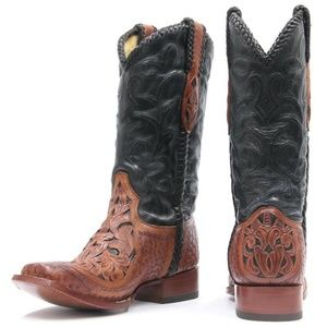 Corral Chedron Black Willow Cowboy Booots
